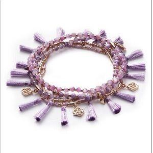 Kendra Scott Julie bracelet set purple